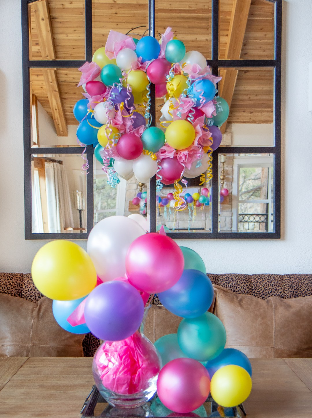 Easy DIY Birthday party balloon decor