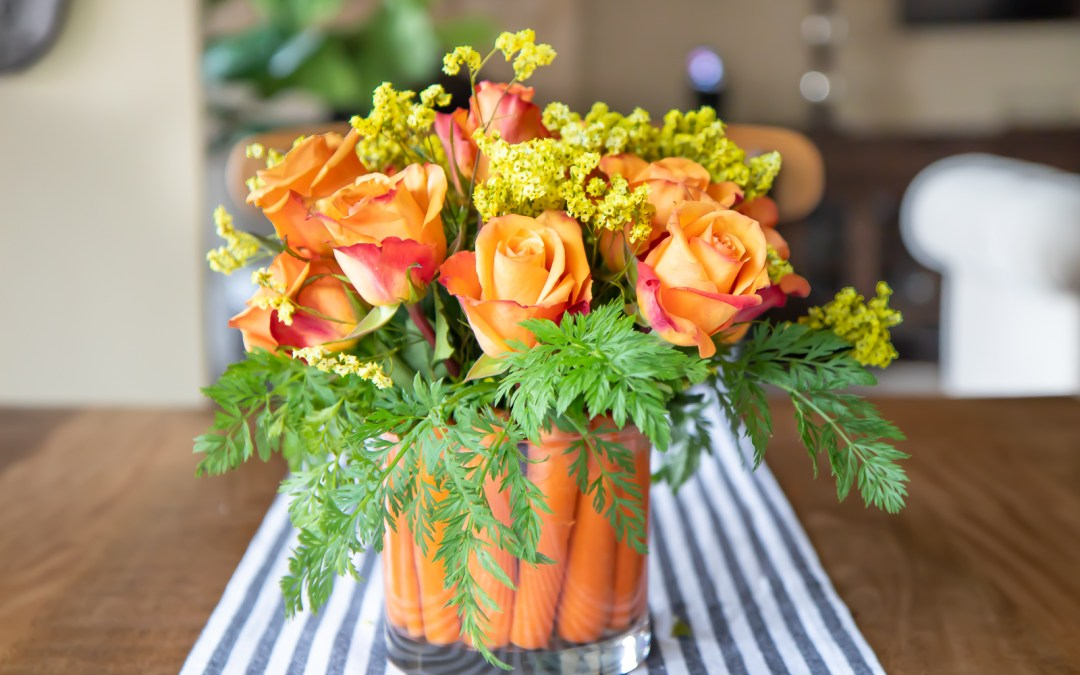 3dc08fb38470b HOW TO CREATE A CUTE EASTER CARROT FLOWER ARRANGEMENT