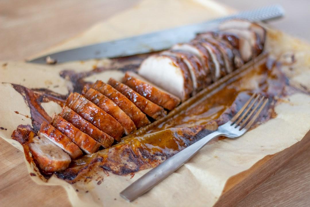 The best honey roasted pork tenderloin