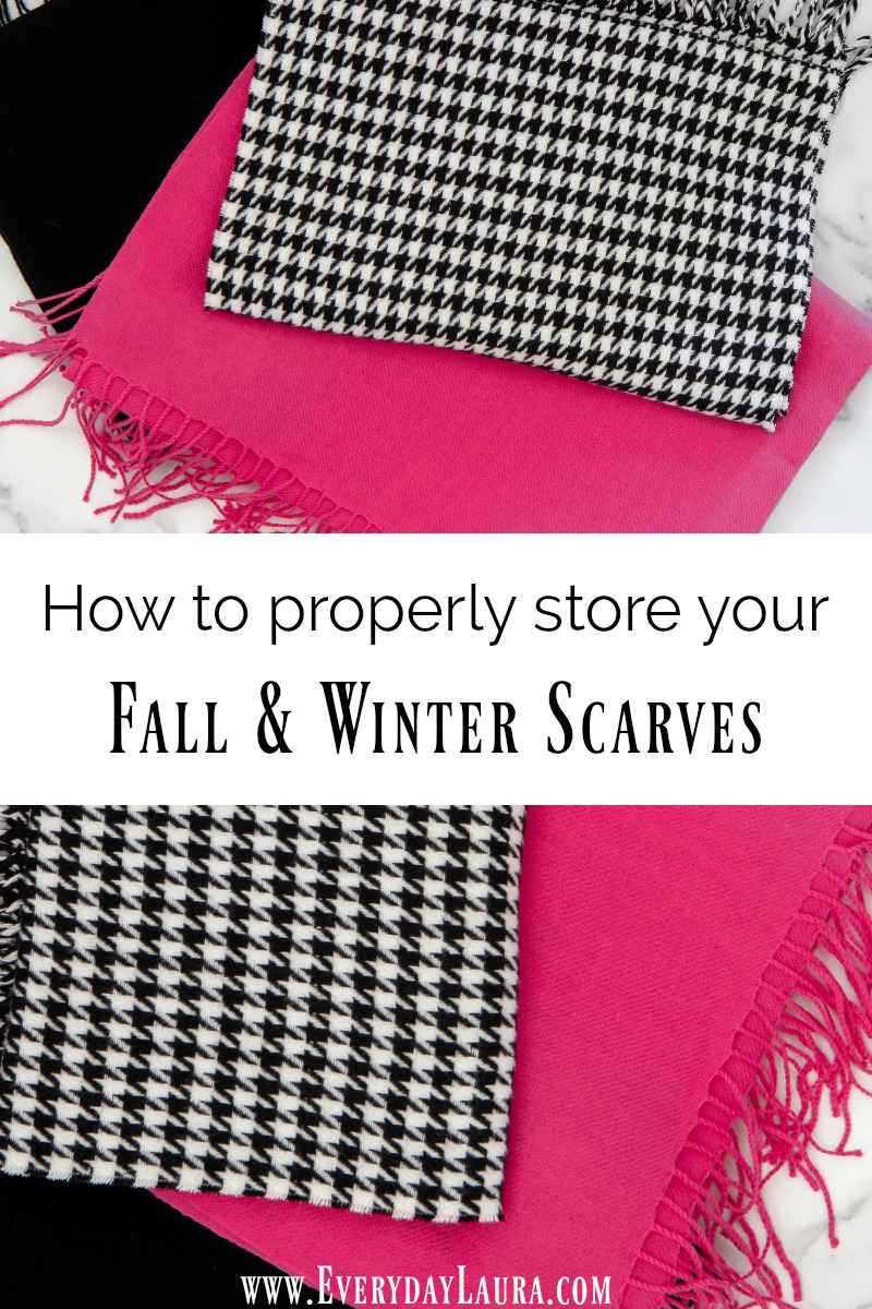 How to properly store your your fall and winter scarves after the season.