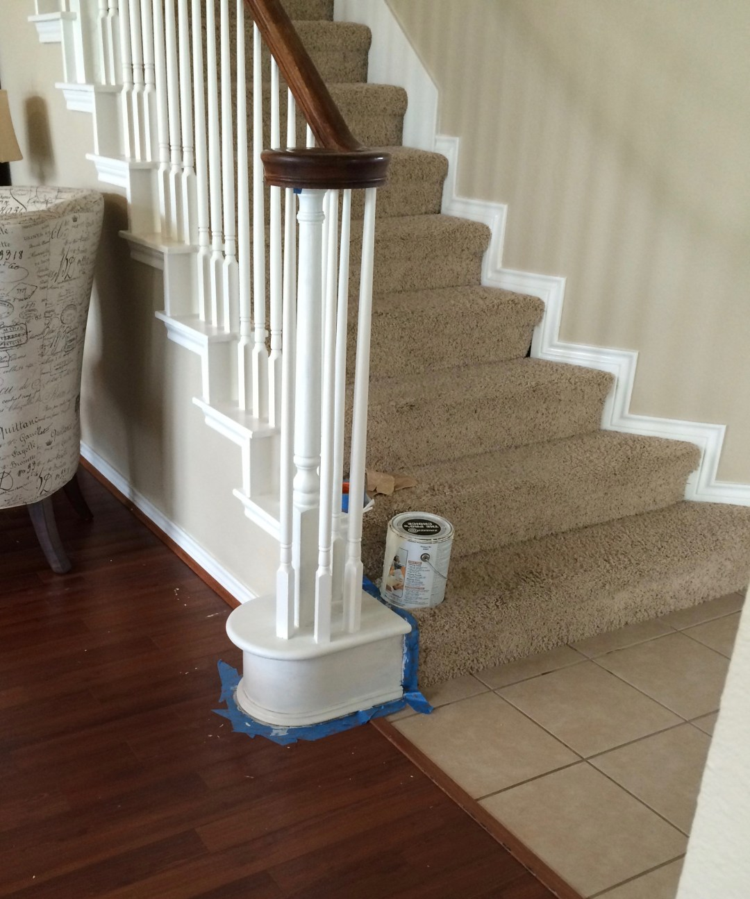 budget stair makeover