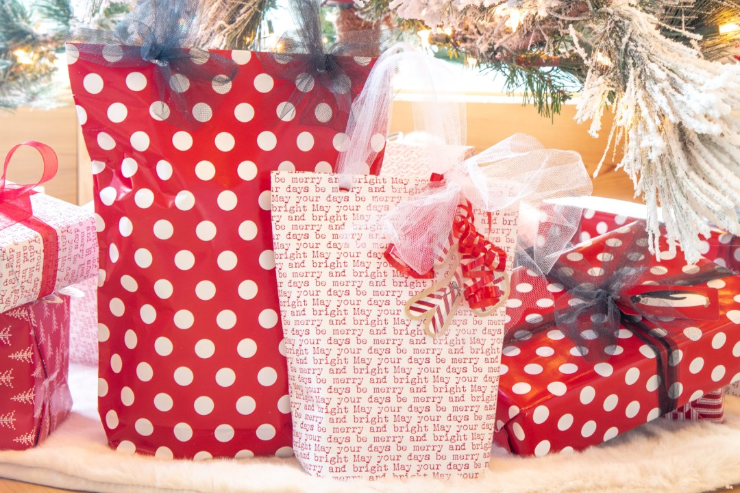 Make a gift bag out of wrapping paper