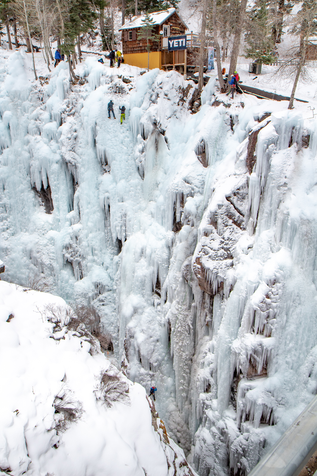 Ouray ice climbing park