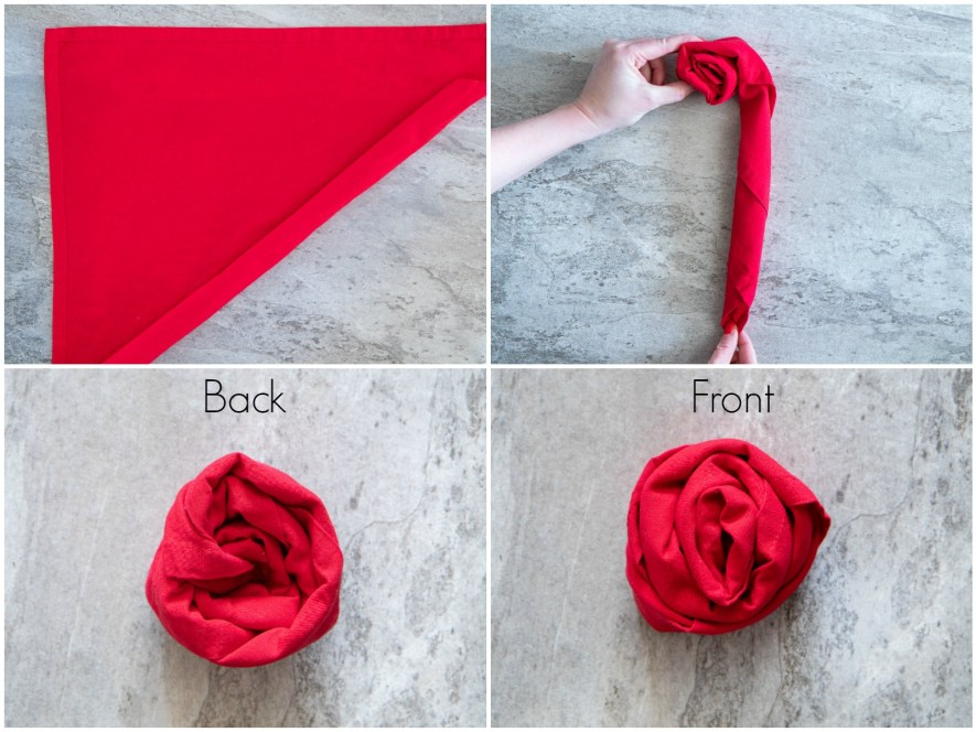 how to fold rose napkins