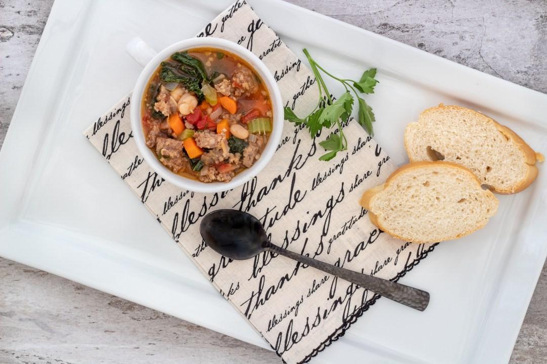 Italian sausage soup recipe.
