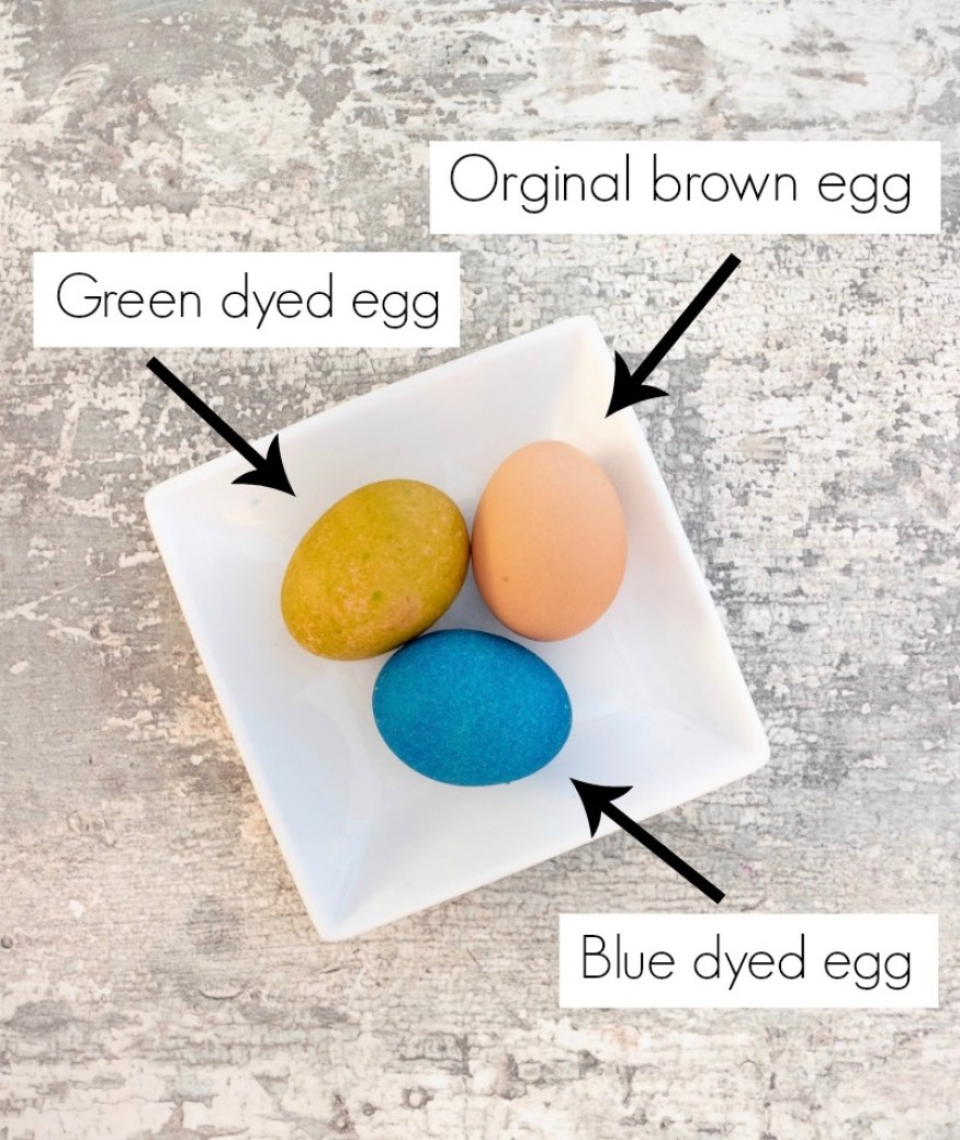 How to dye brown Easter eggs