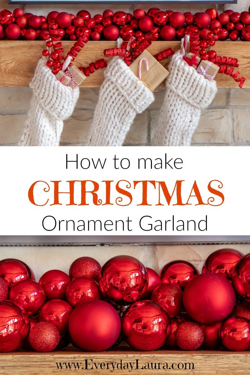 How to make Christmas ornament garland