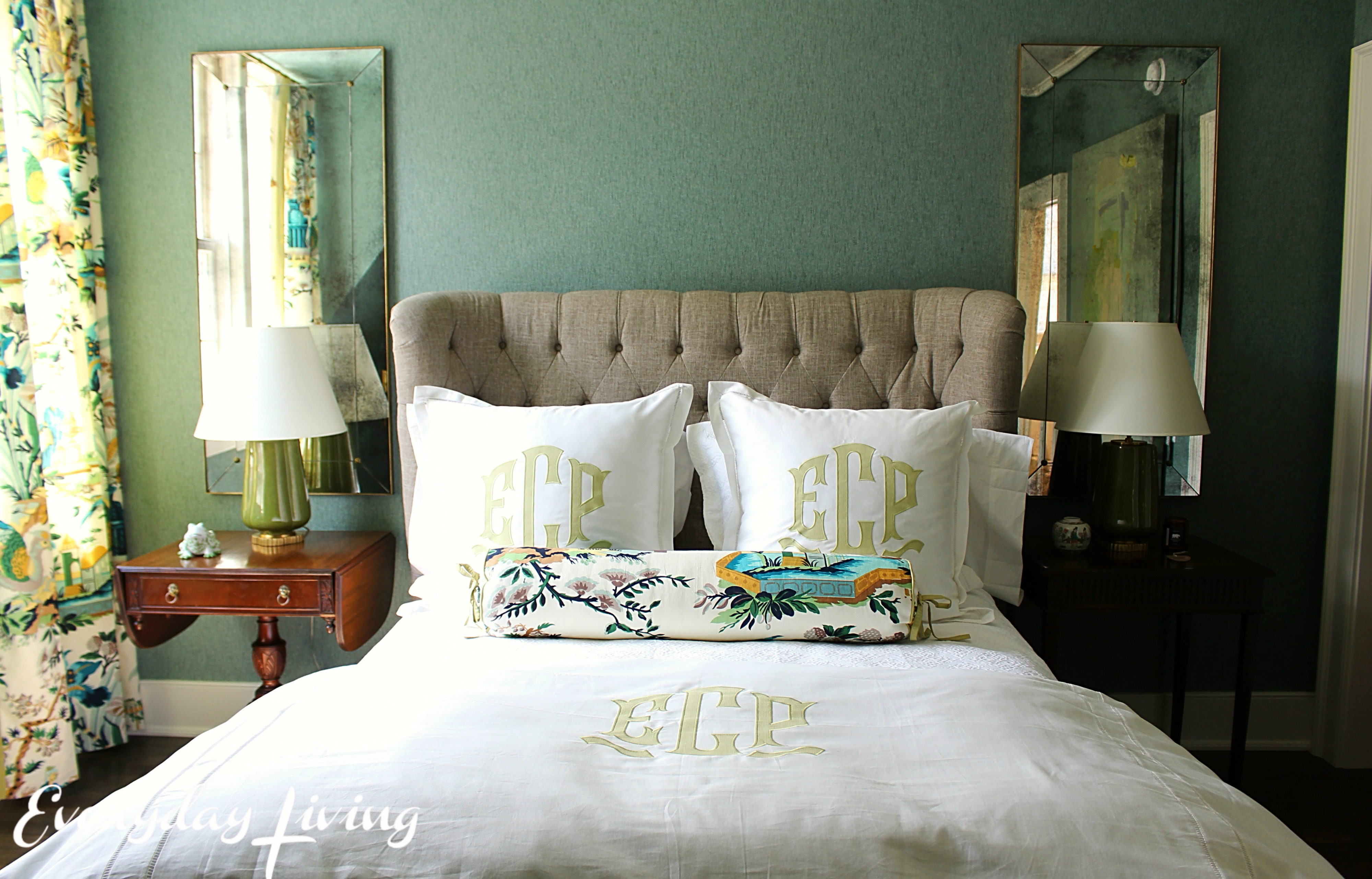 southern living associate decorating editor elly poston designed this bedroom featuring the living collection for