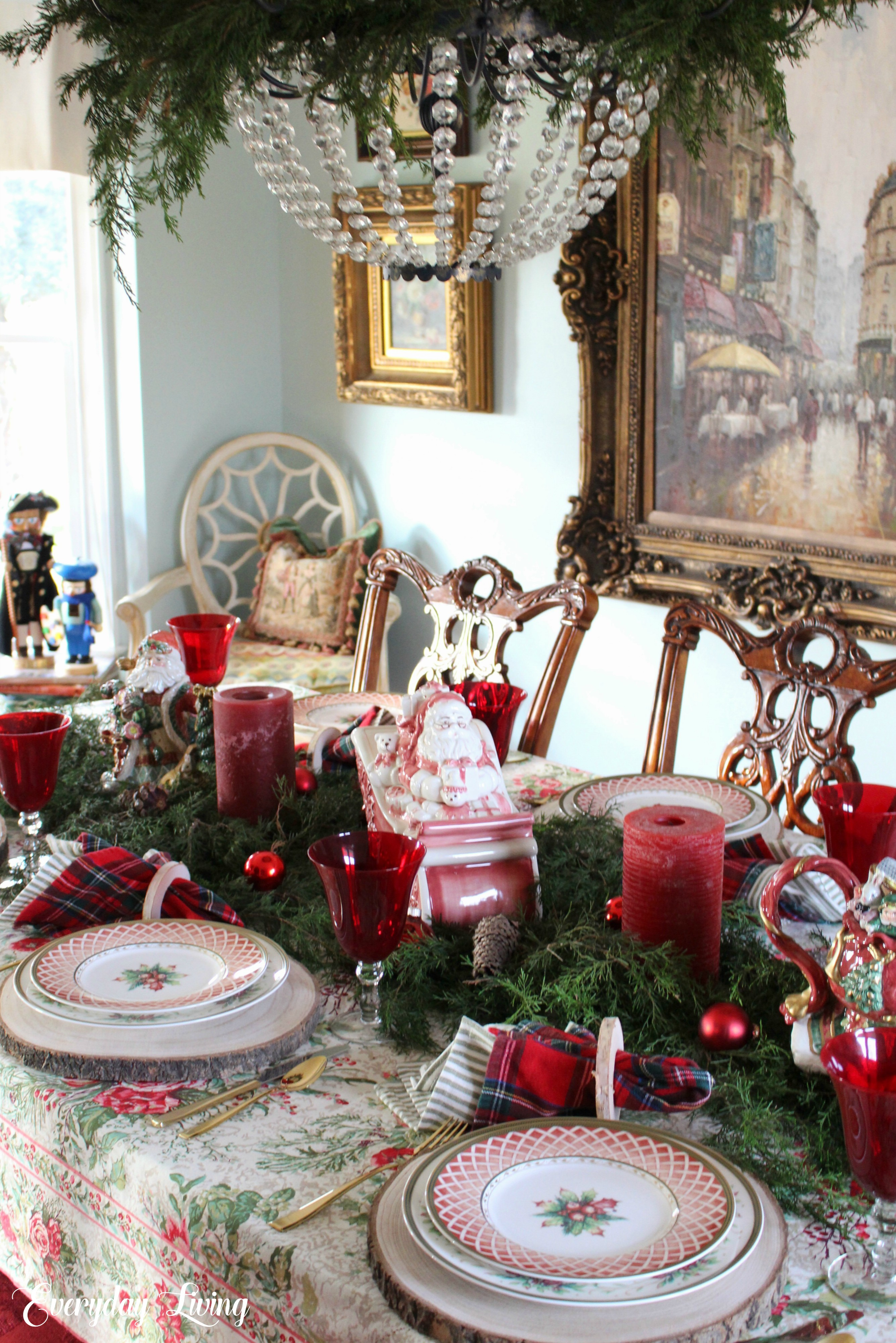 Winter Holiday Christmas Tablescape Blog Hop