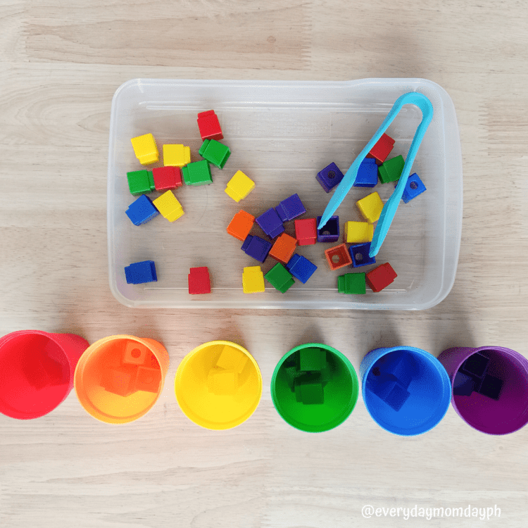 Color Sorting with Unifix Cubes