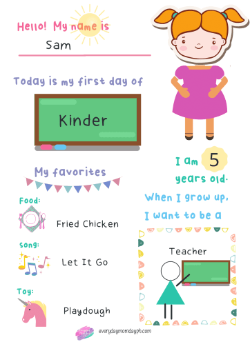 My First Day in School For Girls - English