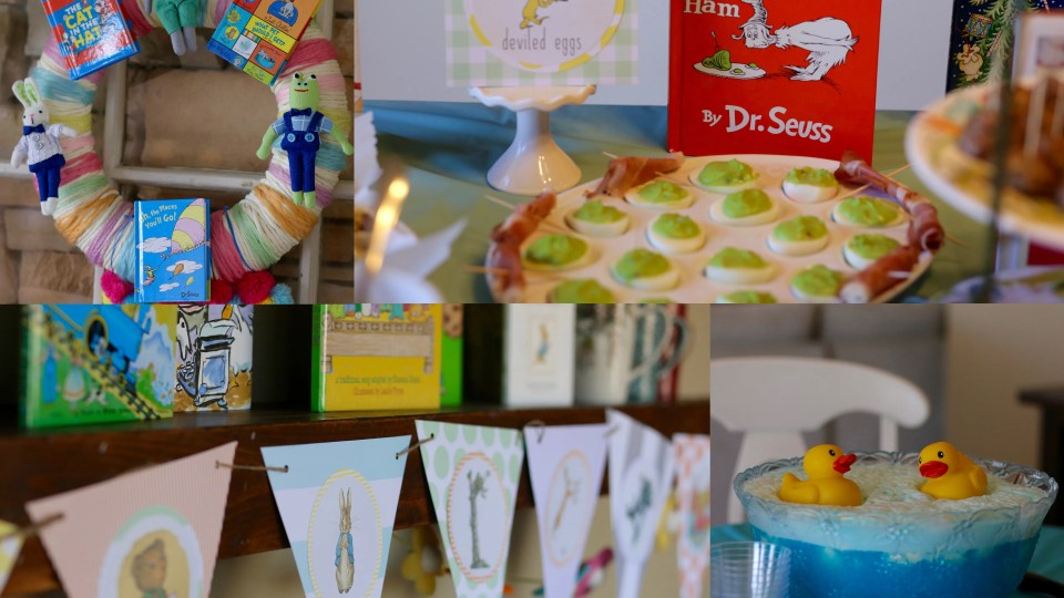 Tons of ideas for a storybook baby shower