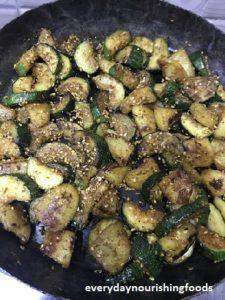Zucchini Potato Stir Fry