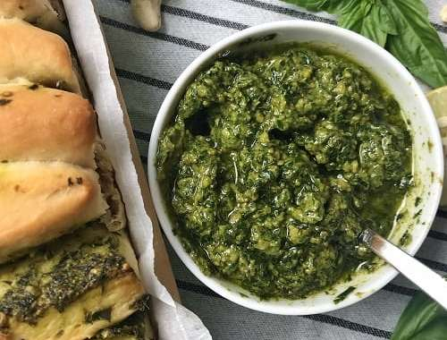 Vegan pesto sauce recipe