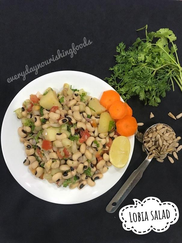 Lobia cowpeas potato salad recipe