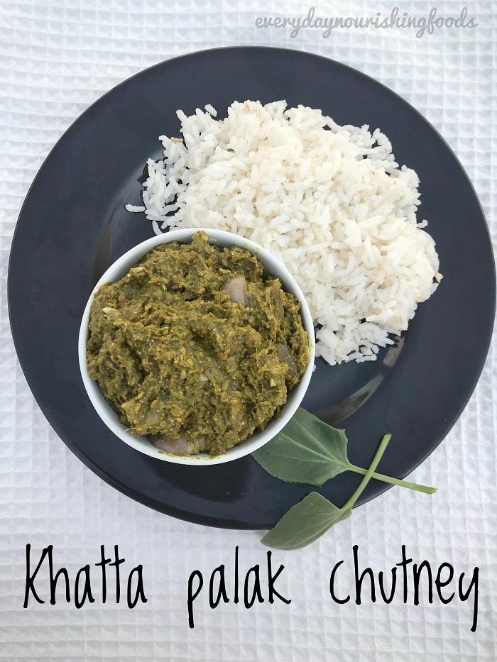 Chukkakura pachadi recipe - Khatta palak chutney