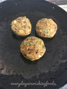 Amaranth mushroom patties steps