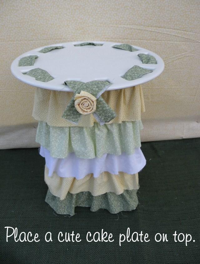 ruffle cake stand DIY 5
