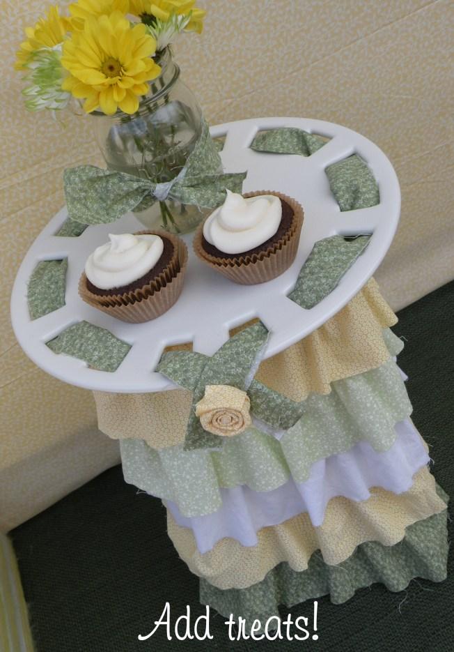 ruffle cake stand DIY 6