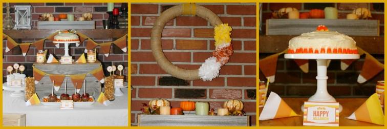 Candy Corn Halloween Celebration Collage