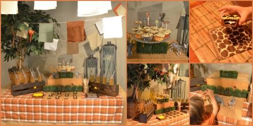 Safari Table Collage