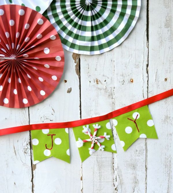 Everyday Party Magazine DIY Joy Mini Bunting complete