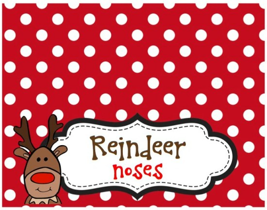 Reindeer Nose Free Bag Topper