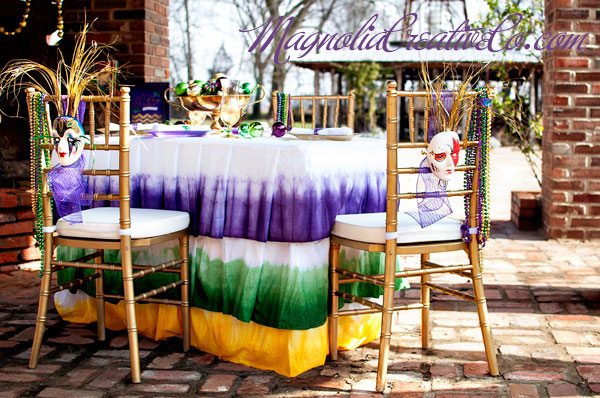 Mardi Gras Party Table