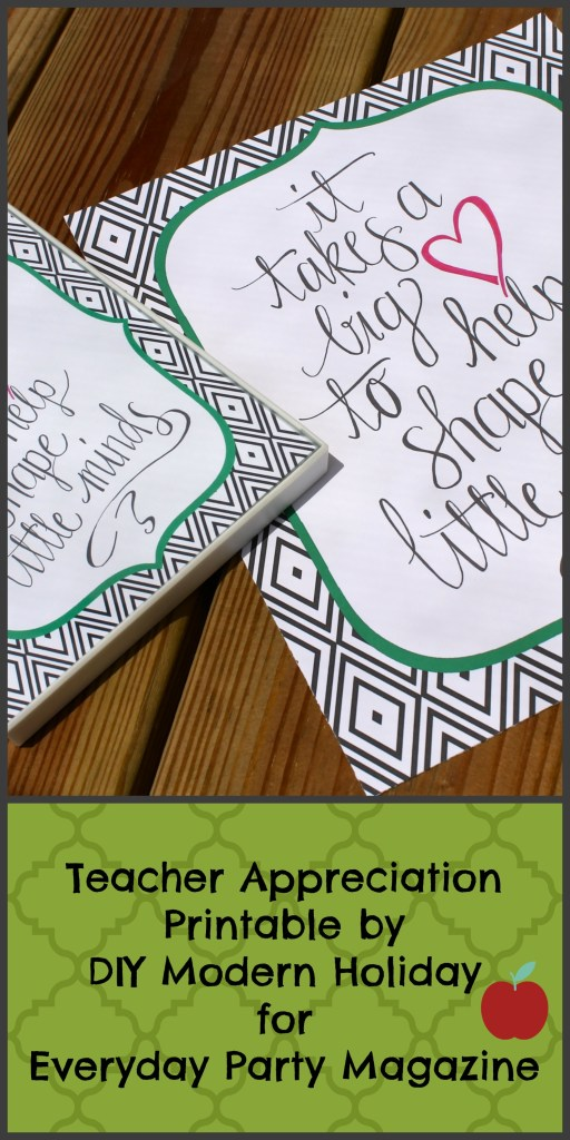Everyday Party Magazine Teacher Appreciation Printable by DIY Modern Holiday