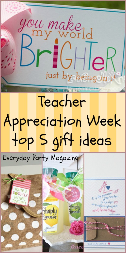 Everyday Party Magazine Top 5 Teacher Appreciation Gift Ideas