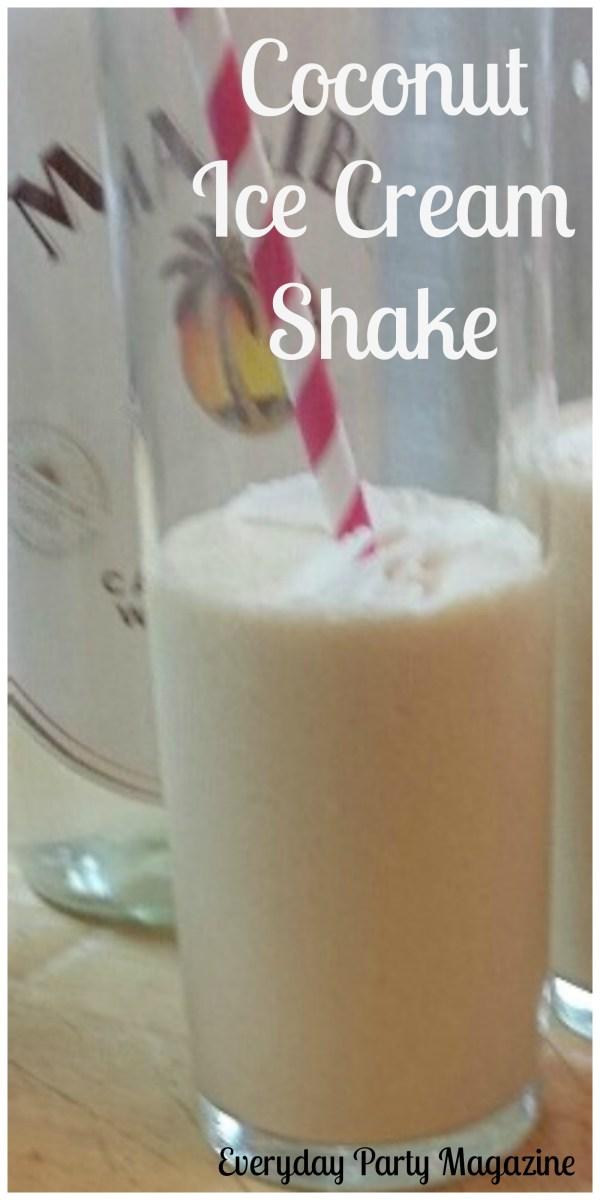 Coconut Ice Cream Shakes by Everyday Party Magazine