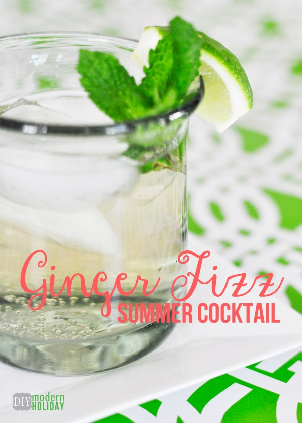 Everyday Party Magazine Ginger Fizz by DIY Modern Holiday