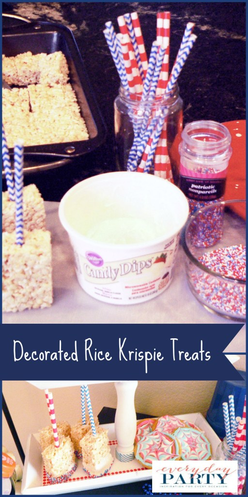 Everyday Party Magazine 4th of July Rice Krispie Treats by My Thrifty Sister