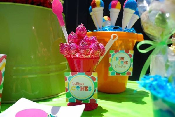 Everyday Party Magazine Summer Snow Cone Party by Just a Little Sparkle