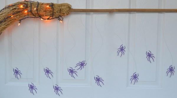 Everyday Party Magazine Witches Broom And Spider Backdrop