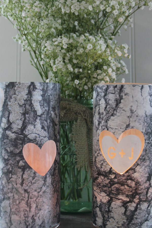 Everyday Party Magazine Woodland Centerpiece Candle Cricut Design Space Star Challenge