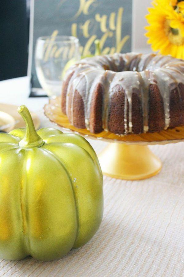 Everyday Party Magazine Vanilla Pumpkin Bundt Cake Recipe by Heather Anne Naples