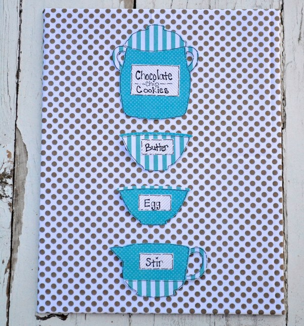 Everyday Party Magazine Milk and Cookies Party Decor using Sizzix Products