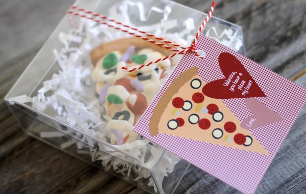 Everyday Party Magazine Valentine, you have a pizza my heart
