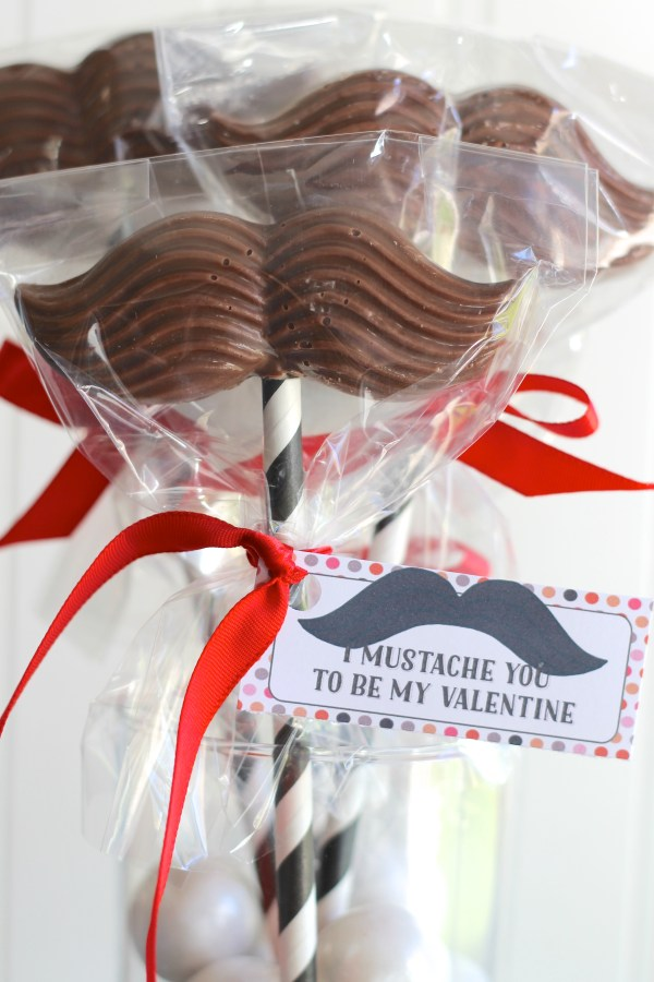 Everyday Party Magazine I Mustache You to be my Valentine!