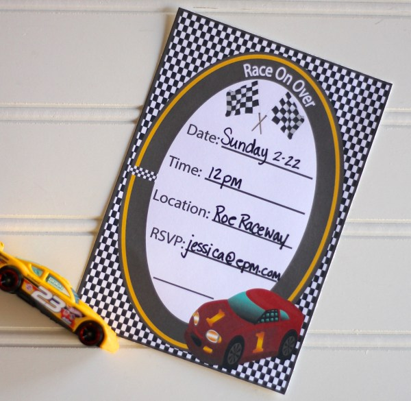Everyday Party Magazine Race Party Printables