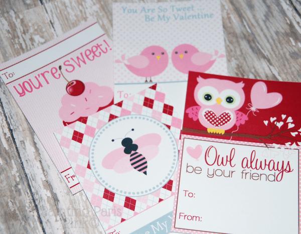 Painting Paris Pink Printable Valentine's Cards