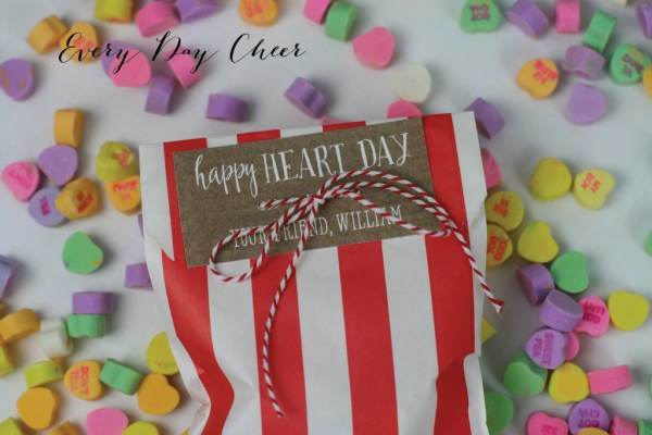 Happy Heart Day Free Valentine's Day Tags by Lauren Haddox Designs for Everyday Cheer