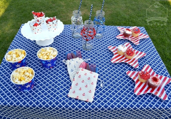 4th of July Table by Creativities Galore on Everyday Party Magazine