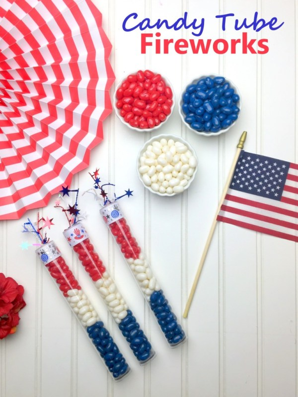 Simple 4th of July DIY's on Everyday Party Magazine Hoopla Events Firecracker Candy Tube DIY
