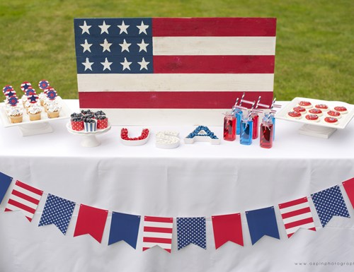 Patriotic Dessert Table from Hoopla Events on Everyday Party Magazine