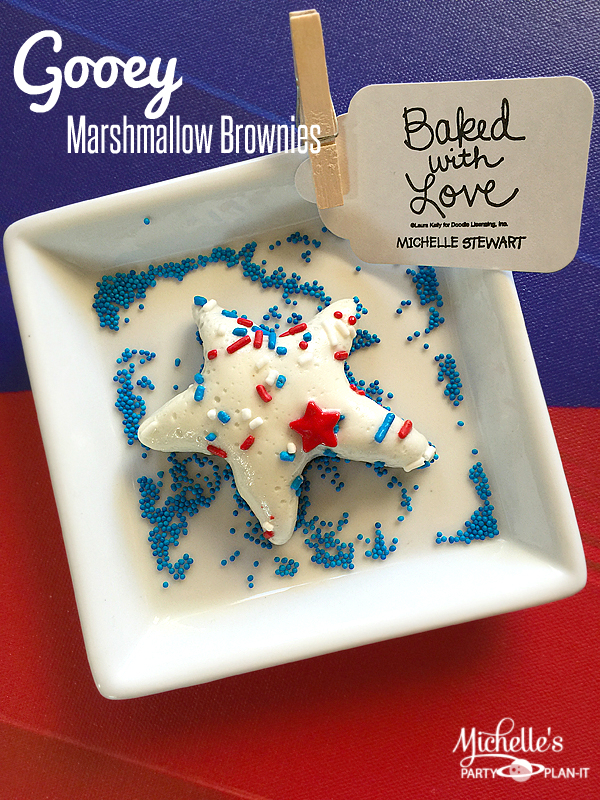 Fun 4th of July Recipes on Everyday Party Magazine Michelle's Party Plan It 4th of July Gooey Brownies