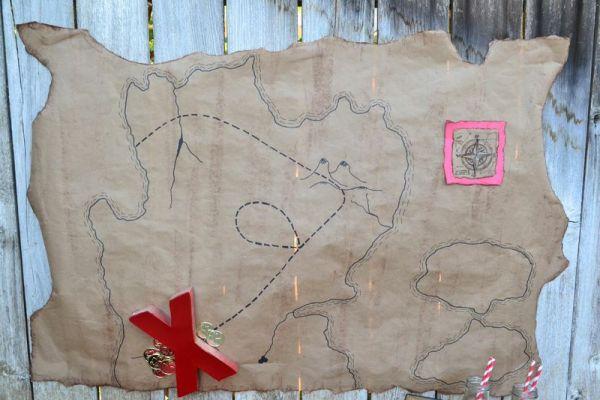 Pirate Map Backdrop