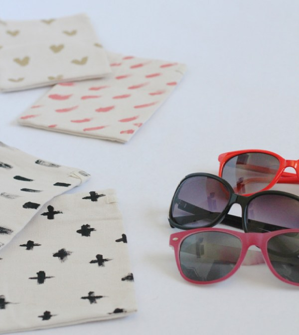 DIY Sunglasses Bag by Thoughtfully Simple on Everyday Party Magazine