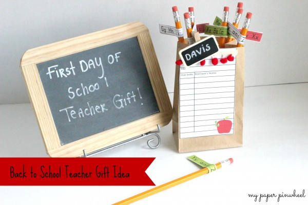 Simple Back to School Teacher Gift by DimplePrints